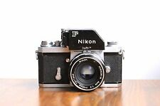 NIKON F  35mm SLR film camera   w/ Leather Case & 50mm Lens   * Good User/Read *