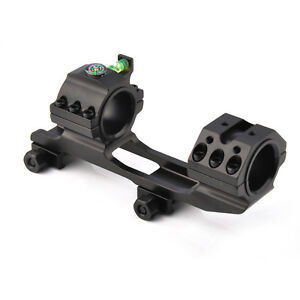 """1"""" to 30mm Ring Scope Mount 20mm Picatinny rail with Bubble Level&Compass Alum"""