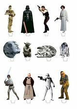 12 Star Wars Classic **FAB** Edible WAFER Cupcake Toppers **STAND UPS**