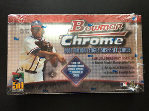 2001 BOWMAN CHROME Baseball FACTORY SEALED Wax Hobby Box PUJOLS RC ICHIRO RC ??
