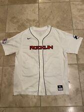 Nike Dri Fit Rocklin Mens Baseball Jersey White Size Xl Euc!