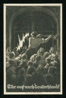 1938 Germany 3rd Reich Picture Postcard German Austria Referendum Peoples Vote