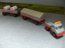 1/87 Brekina Unimog 411 MB Sinalco mit zwei Anhänger 39108
