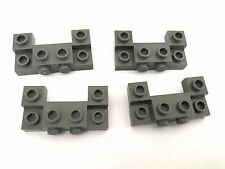 Lego 4 x Vehicle chassis front bumper plates w front studs. pt 4520 D.Stone Grey