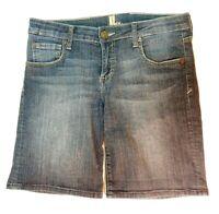 Kut From The Kloth Bermuda Jean Shorts Mid Rise Dark Wash Womens Size 6