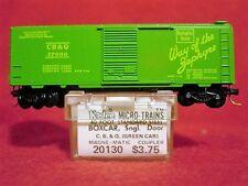 KD 20130 C.B.& Q. (Green Car) 40' Box Car  #37000 MINT N-SCALE