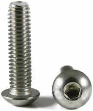 Button Head Socket Cap Screw Stainless Steel Screws UNC 5/16-18 x 1 Qty 25