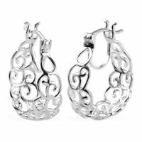 925 Sterling Silver Stylish Fashion Hoop Hoops Earrings Valentines Gift for Her