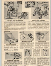1953 PAPER AD Mow Cycle 3 Wheel Riding Power Lawn Mower Tractor Whiz Tree Saw