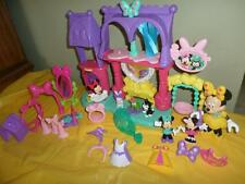 Fisher Price Minnie Mouse Bowtique Pampering Pets Salon Playset Snap Style Lot