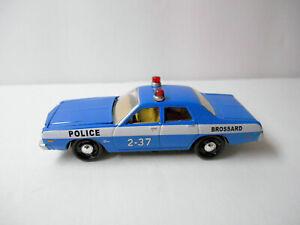 FOREVER 64 BLUE 1977 DODGE MONACO BROSSARD POLICE CAR wRRs BY JOHNNY LIGHTNING