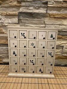 Restoration Hardware Keep The Tradition Christmas Advent Calendar Ivory 25 Door