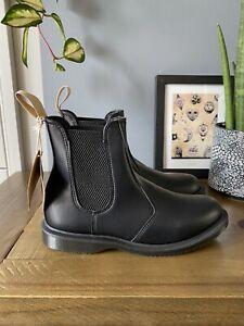 Dr Martens Vegan Flora Chelsea Boots Size UK 5  EU 38 BNIB Faux Black Leather