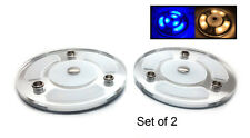 """Pactrade Marine Boat RV 4"""" 2PCS Blue White LED Dome Courtesy Light  Touch Switch"""