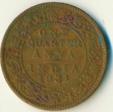 1931 COIN / INDIA / QUARTER ANNA KING GEORGE V.        #WT11318