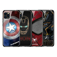MARVEL Avengers Tempered Glass Cover Case Ironman Captain iPhone 11 Pro MAX S