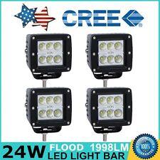4X 24W CREE LED Work Light Flood Cube Pods 12V 24V Off-road Boat ATV Lamp Jeep