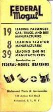 Federal Mogul Richmond Parts & Accessories Staten Island Notebook NY NYC 1948