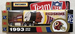 MATCHBOX WHITE ROSE NFL-93-14 WASHINGTON REDSKINS FORD AEROMAX TRUCK 1993 MIB