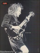AC/DC Angus Young onstage with Gibson SG guitar 8 x 11 pin-up photo