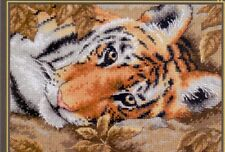 """Dimensions Gold Collection Petites Counted Cross Stitch Kit """"Beguiling Tiger"""""""