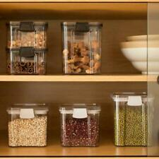 Sealed transparent storage box home kitchen spice nut food container J6C4
