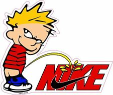 Calvin Pee On NIKE Colin Kaepernick Spoof Funny Sticker Decal