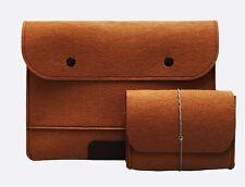 "Coffee 14"" Laptop Felt Sleeve Case Bag For Macbook HP Dell Lenovo Notebook"