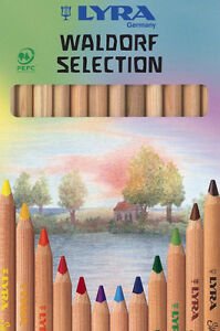 12 Lyra Waldorf Super Ferby Selection Buntstift Farbstift Malstift Jumbo Natur