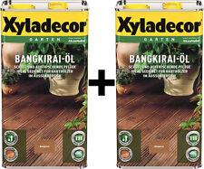 Xyladecor Bangkiraiöl 2 x 5 l Bangkirai-Öl 10 Liter absolute NEUWARE TOP WOW
