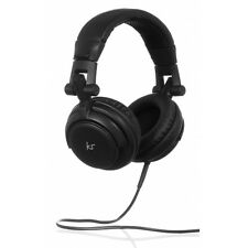 KitSound Compact Lightweight Foldable Wired DJ Headphones Black C