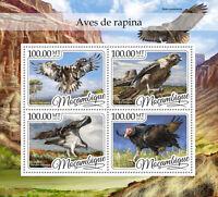 Mozambique 2016 MNH Birds of Prey 4v M/S Falcons Vultures Eagles Raptors Stamps
