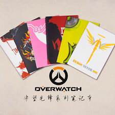Overwatch DVA Mercy Cute Student Notebook Notepad Diary Notebook 6pcs Full Set