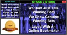STAKE2STAKE Proven Winning Horse Racing System