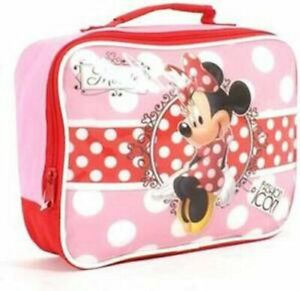 Disney Minnie Mouse Sandwich Lunch Box/Bag with Carry Handle