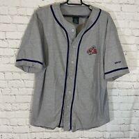 Pro Edge Columbus Blue Jackets NHL Baseball Style Shirt XL Gray Throwback Logo