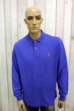 RALPH LAUREN Polo Uomo Taglia XL Maglietta Casual T-shirt Maglia Manica Lunga