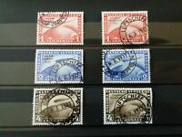DR Chicagofahrt 1933 + Polarfahrt 1931;Mi 496-498+456-458, 1A gestempelte Optik!