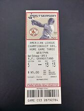 2007 ALCS Game # 6 Ticket Stub Boston Red Sox Cleveland Indians David Ortiz