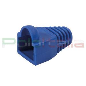 10x Copriconnettore gommino per plug cavo di Rete cat5 6 7 ethernet RJ45 Lan Blu