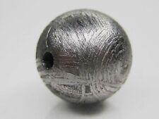 6MM GIBEON IRON METEORITE ROUND BEAD 0.9 grams (solid) Original Natural Color
