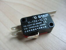 Micro Limit Switch V 152 1c25 With 1 254mm Lever 15a 125250vac E66h