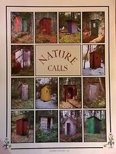 Nature Calls Outhouse Poster