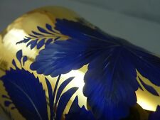 Fine Quality  Victorian Blue and Gilt Cut Glass Goblet