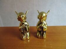 Pair of Vintage Inarco Gold Kneeling Praying Angels Figurines Japan E-4034