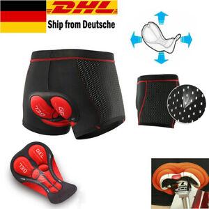 Fahrradhose Herren/Damen Radhose 5D Gel Sitzpolster Unterhose Radfahren Shorts