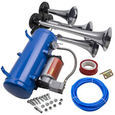 12v Dual Double Trumpet 150 Db Air Horn Kit With 6 Liters 120 Psi Compressor OMG