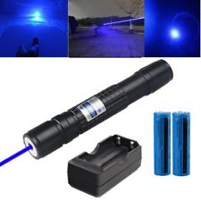 Powerful Blue Purple Laser Pointer Pen 5mW 405nm Cat Toy Laser Pen+Batt+Charger