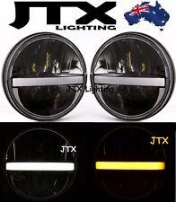 "Toyota Landcruiser HZJ75 60 70 73 75 78 79 series JTX LED RED Halo 7"" Headlights"