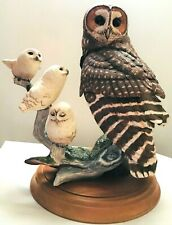 Franklin Mint ~ The Spotted Owl ~ Fine Porcelain ~ Signed by George McMonigle